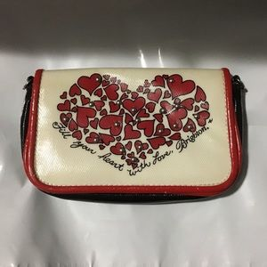Brighton Black + white with heartsPouch or wallet